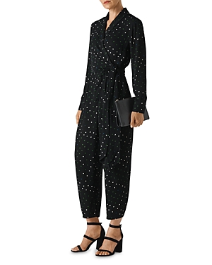 Whistles Suits STAR-PRINT CROPPED JUMPSUIT