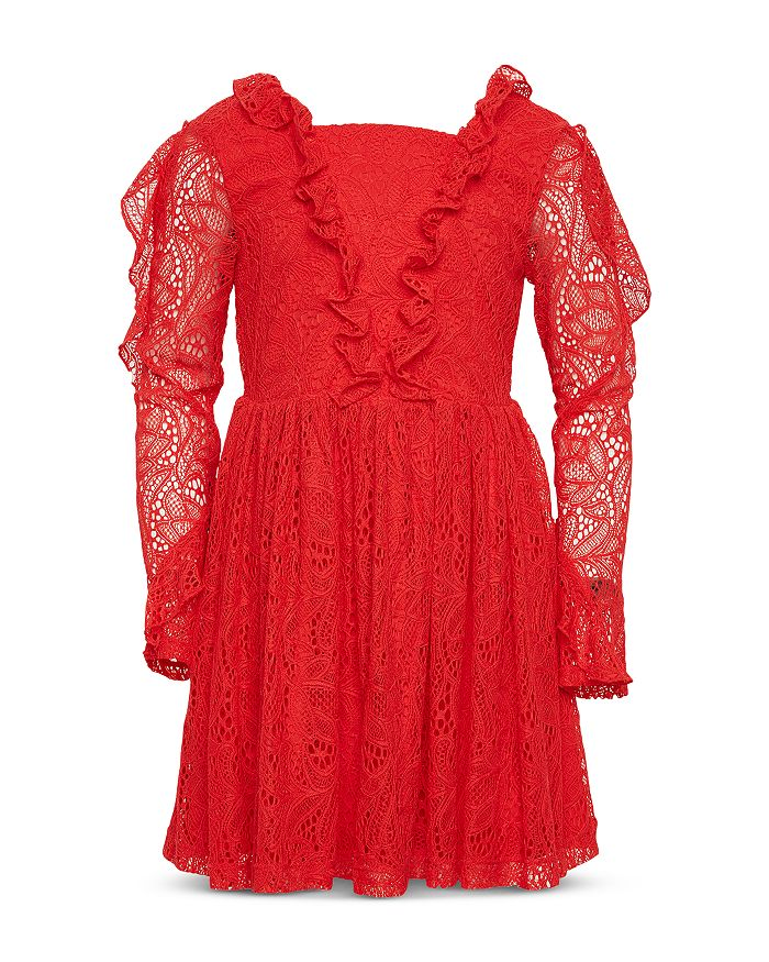Bardot Junior - Girls' Vera Ruffled Lace Dress - Big Kid