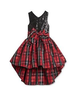 Pippa & Julie - Girls' Sequin & Plaid Dress - Little Kid