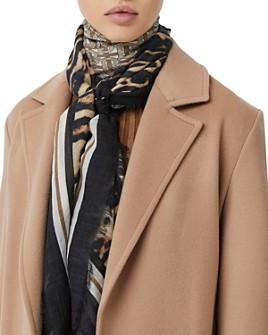 Burberry - Monogram Leopard-Print Wool & Silk Scarf