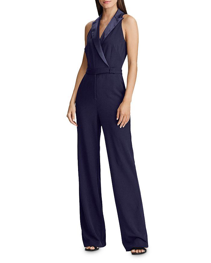 Ralph Lauren - Sleeveless Tuxedo Jumpsuit