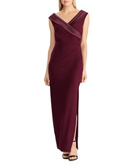 Ralph Lauren - Satin Portrait-Collar Gown