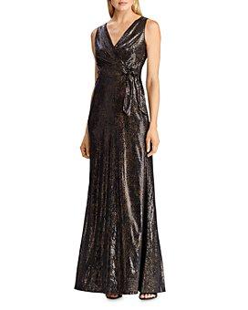 Ralph Lauren - Sequined Faux-Wrap Gown