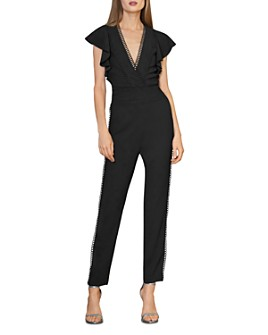 ML Monique Lhuillier - Scallop-Trimmed Jumpsuit