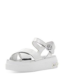 Miu Miu - Women's Metallic Studded Platform Sandals