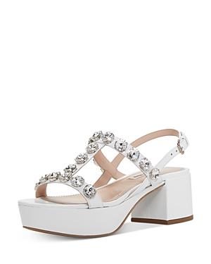Miu Miu Women's Crystal-Embellished Platform Sandals