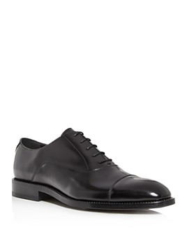 Jimmy Choo - Men's Falcon Crystal Welt Leather Cap-Toe Oxfords