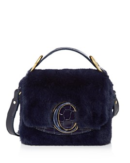 Chloé - C Faux-Fur Crossbody
