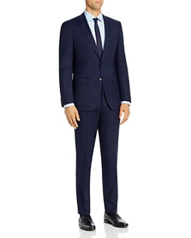 BOSS - Huge/Genius Tonal Plaid Slim Fit Suit