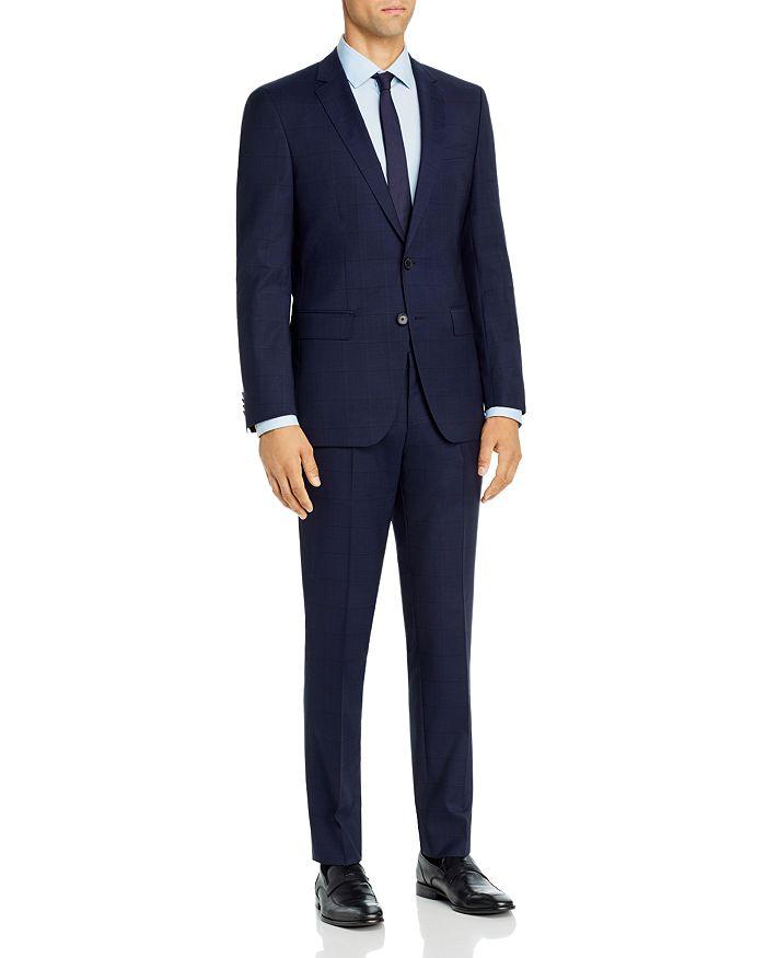 BOSS - Huge/Genius Tonal Plaid Slim Fit Suit