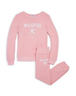 WILDFOX - Girls' Palm Tree Sweatshirt & Jogger Pants - Big Kid