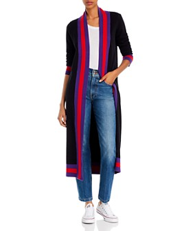 AQUA - Track Stripe Duster Cardigan - 100% Exclusive