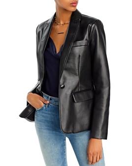 AQUA - Faux Leather Blazer - 100% Exclusive