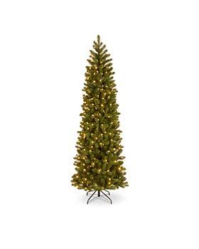 National Tree Company - 7.5 ft. Downswept Douglas® Pencil Slim Fir Tree with Dual Color® LED Lights