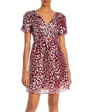 AQUA - Metallic Leopard-Pattern Dress - 100% Exclusive