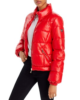 GUESS - Valetta Faux Leather Puffer Jacket