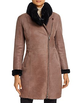 Maximilian Furs - Fox Fur-Collar & Lamb Shearling Coat - 100% Exclusive