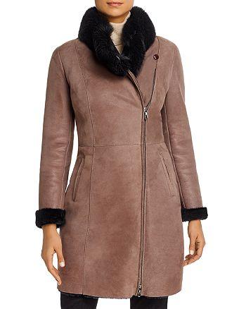 Maximilian Furs - Fox Fur-Collar & Lamb Shearling Coat - 100% Exclusive