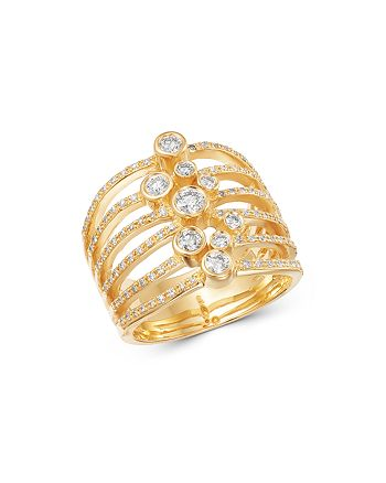 Bloomingdale's - Diamond Bezel Statement Ring in 14K Yellow Gold, 0.70 ct. t.w. - 100% Exclusive