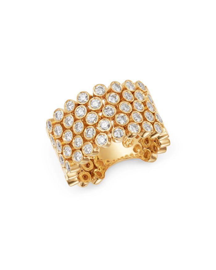 Bloomingdale's Diamond Bezel Statement Flex Ring in 14K Yellow Gold, 1.6 ct. t.w. - 100% Exclusive  | Bloomingdale's