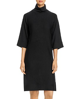 Eileen Fisher Petites - Merino Wool Mock-Neck Dress