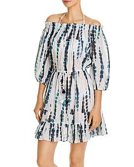 Shoshanna - Seaglass Tie Dye Off-the-Shoulder Dress Swim Cover-Up