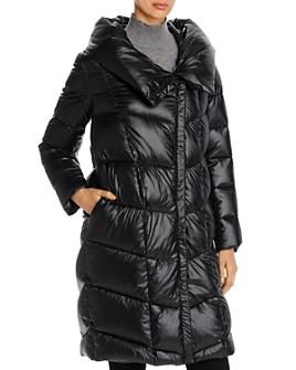 Donna Karan - Cocoon Hooded Puffer Coat