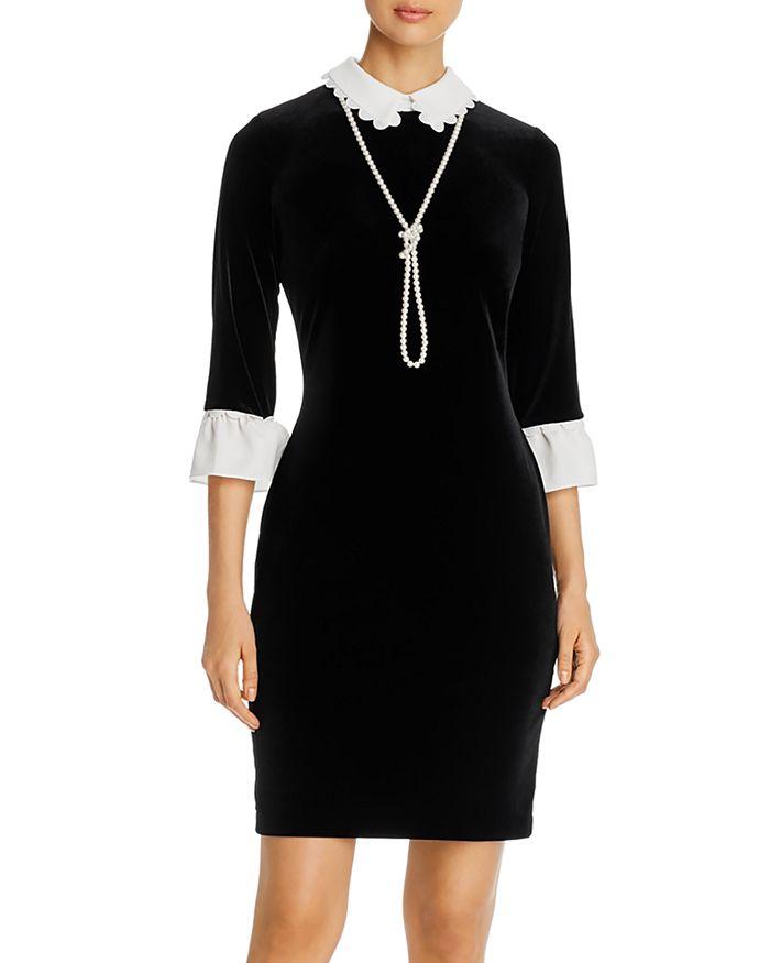 KARL LAGERFELD PARIS - Velvet Layered-Look Dress