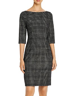 BOSS - Dokos Glen Plaid Sheath Dress