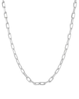"CHARMBAR - Adjustable Link Chain Necklace in Sterling Silver or 14K Gold-Plated Sterling Silver, 16""-18"""