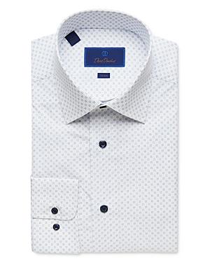 David Donahue Neat Print Trim Fit Dress Shirt-Men