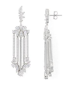 Nadri - Loa Faceted Stone Chandelier Earrings