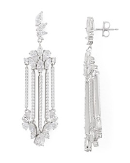 Nadri - Loa Faceted Stone Chandelier Earrings