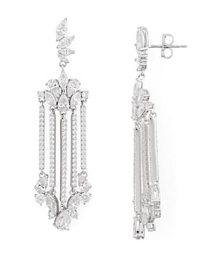 Nadri Loa Faceted Stone Chandelier Earrings-Jewelry & Accessories