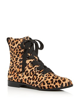 kate spade new york - Women's Romia Leopard-Print Calf Hair Booties - 100% Exclusive