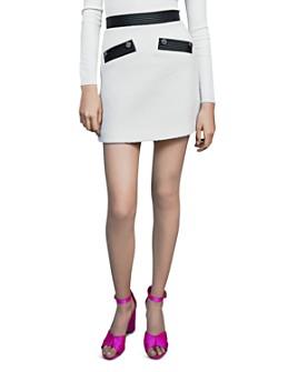 Maje - Jemma Faux Leather-Trimmed Mini Skirt