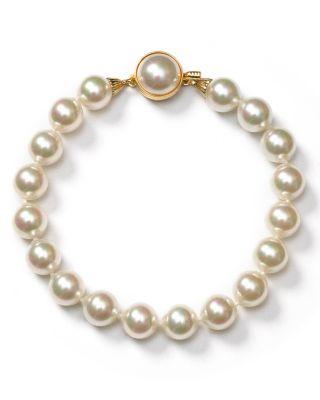 $Majorica Simulated Pearl Bracelet - Bloomingdale's