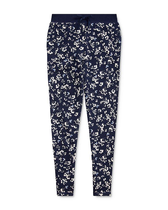 Ralph Lauren - Girls' Floral Print Terry Pants - Big Kid