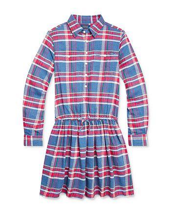 Ralph Lauren - Girls' Plaid Twill Dress - Big Kid