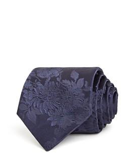 Paul Smith - Tonal Floral Print Silk Classic Necktie