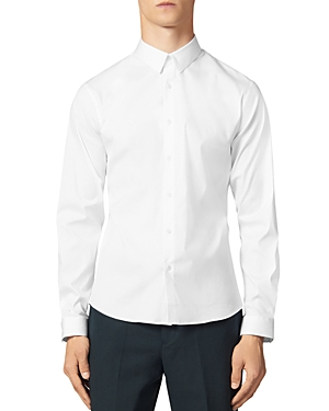 Sandro T-shirts SEAMLESS STRETCH SLIM FIT BUTTON-DOWN SHIRT