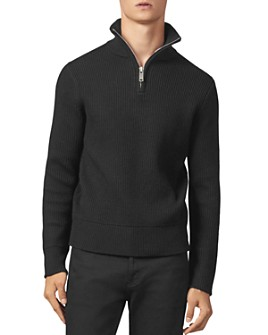 Sandro - Ribbed Half-Zip Sweater
