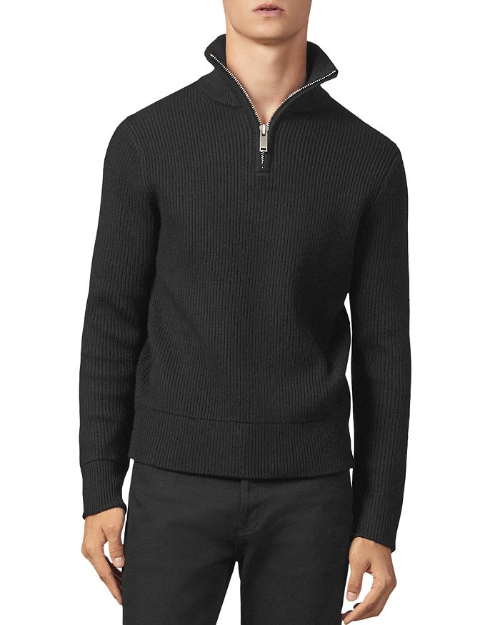Sandro - Ribbed Half-Zip Sweater