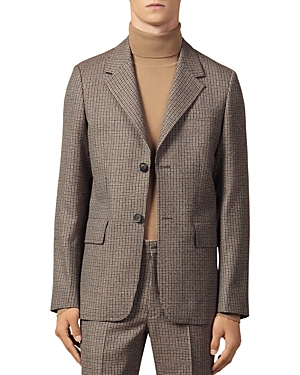 Sandro Houndstooth Slim Fit Suit Jacket