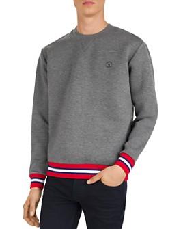 The Kooples - Striped-Trim Sweatshirt