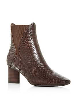 Donald Pliner - Women's Austen Snake-Embossed Square-Toe Booties