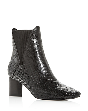 Donald Pliner Women\\\'s Austen Snake-Embossed Square-Toe Booties