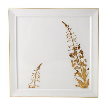 """Bernardaud - """"Vegetal"""" Gold Wallis Salad Plate"""