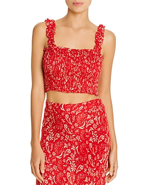 Coolchange Daria Meadow Cropped Top Swim Cover-Up