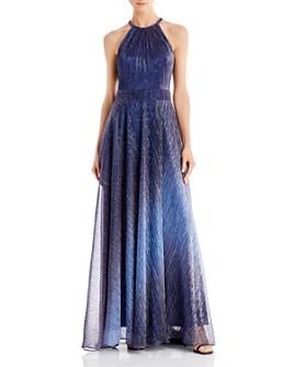 Avery G - Metallic Ombré Gown